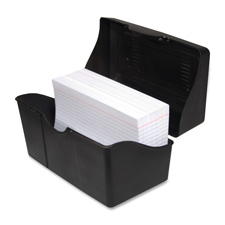 "Index card holders, 5""x8"", black, sold as 1 each"