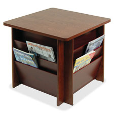 Buddy Solid Oak Table w/ Literature Storage