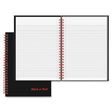 Black n' Red Wirebound Ruled Notebook
