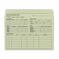 "Employee record file folder,11-1/2""x9-1/2"", 20/pk, manila, sold as 1 package, 25 each per package"