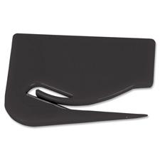 "Letter opener, plastic, 2-7/8""x2-1/8"", black, sold as 1 each"
