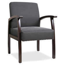 """Guest chairs, 24""""x25""""x35-1/2"""",midnight blue/cherry frame, sold as 1 each"""