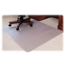 Lorell Low-profile Carpet Rectangle Chairmat w/Lip