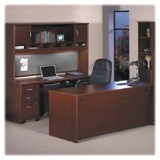 Bush Series C Collection Mahog. Lam Desk Ensemble