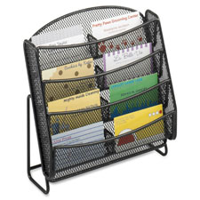 Safco Steel Mesh 8-Compartment Bus. Card Holder