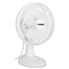 "Desktop fan,6"" tilt,2 speed,6' cord,7""x7-2/3""9-1/16"",white, sold as 1 each"