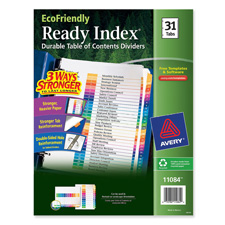 Avery Ready Index Recycled 1-31 Tab Dividers