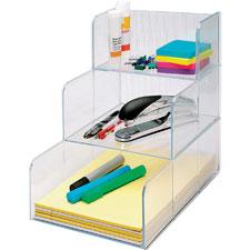"""Storage organizer, 3 compartment, 12""""x9-3/8""""x12"""", clear, sold as 1 each, 200 sheet per each"""