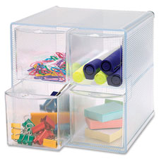 "Storage organizer, 4 drawer, 6""x7-1/4""x6"", clear, sold as 1 each"