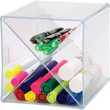 "Storage organizer, x-cube, 6""x6""x6"", clear, sold as 1 each"