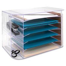 "Jumbo desk sorter, letter, 18-1/8""x10""x12-1/4"", clear, sold as 1 each"