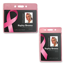 Baumgartens Pink Breast Cancer Badge Holders