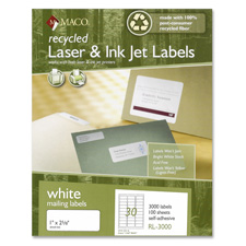 Maco Recy. High Quality Lsr & Inkjt Mailing Labels