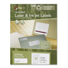 Maco Recy High-qlty Laser & Inkjet Mailing Labels