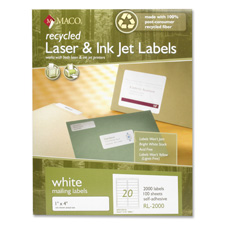 Maco Recycled Laser & Inkjet Mailing Labels