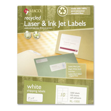 Maco Recy. High-qlty Laser & Inkjt Shipping Labels