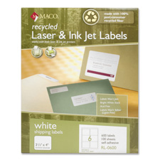 Maco Recycled Laser & Inkjet Shipping Labels