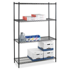 "Add-on wire shelving,4 shelves/2 posts,36""x24""x72"",bk, sold as 1 each"
