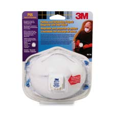 Odor relief respirator, 2/pk, white, sold as 1 package, 35 each per package