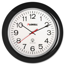 "Wall clock,13-1/4"",arabic numerals,white dial/black frame, sold as 1 each"