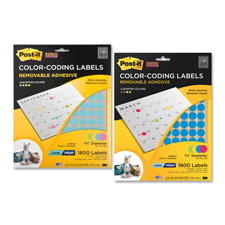 3M Post-it Super Sticky Round Multi-Use Labels