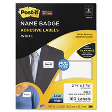 3M Post-it Super Sticky Name Badge Labels