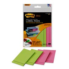 3M Post-it Super Sticky 2-Color Label Pads