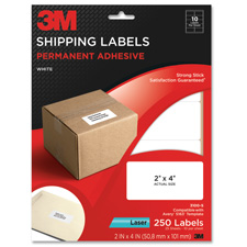 3M Permanent Adhesive Shipping Address Labels