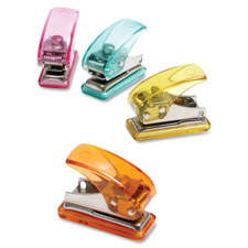 "Single hole punch, mini, 3-1/2""x3""x2"", assorted, sold as 1 each"