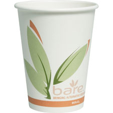 Solo Bare Paper Water Cups