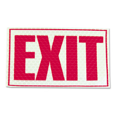 "Exit sign, glow in dark, 1/64""x9-3/4"",7-3/4"", red/white, sold as 1 each"