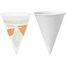 Paper cone cups, dry wax, 4 oz., 200/pk, white, sold as 1 package, 200 each per package