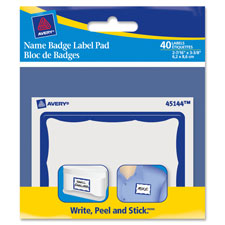 Avery Red Border Name Badge Label Pads