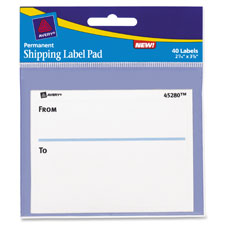 Avery Permanent Shipping Label Pads