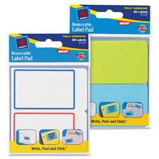 Avery Fully Adhesive Removable Label Pads