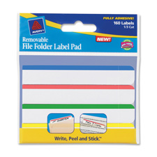 Avery Removable Top Bar File Folder Label Pads