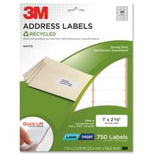 3M Recycled Laser/Inkjet Permanent Address Labels