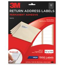 3M Permanent Inkjet Paper White Address Labels