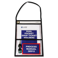 C-Line Stitched 2-Pckt Shop Ticket Holders w/Strap