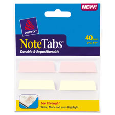 Avery Traditional Durable Write-on Note Tabs