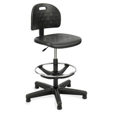 "Workbench chair, 5 casters, 25""x25""x39-49"", black, sold as 1 each"