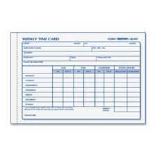 Rediform Weekly Time Card Pad