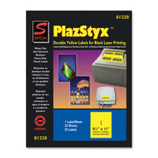 "Laser labels, 2""x4"", 250/pk, yellow, sold as 1 package, 1500 each per package"
