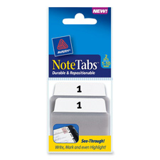 Avery Traditional Preprinted Note Tabs