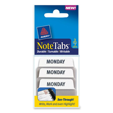 Avery Preprinted Days of the Week Note Tabs
