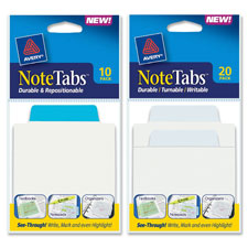 Avery Repositionable Transprnt Write On Note Tabs