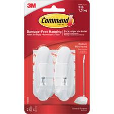 3M Command Medium Reusable Adhesive Plastic Hooks