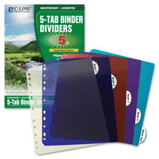 C-Line Biodegradable Index Dividers