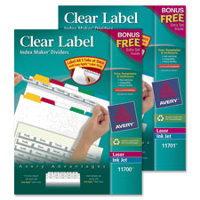 Avery Clear Label Index Maker Dividers