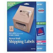 Avery Brown Kraft Internet Shipping Labels
